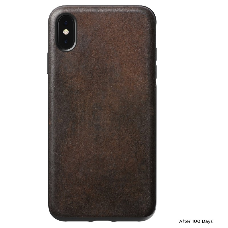 Nomad Leather Case iPhone XS Max Bruin 02