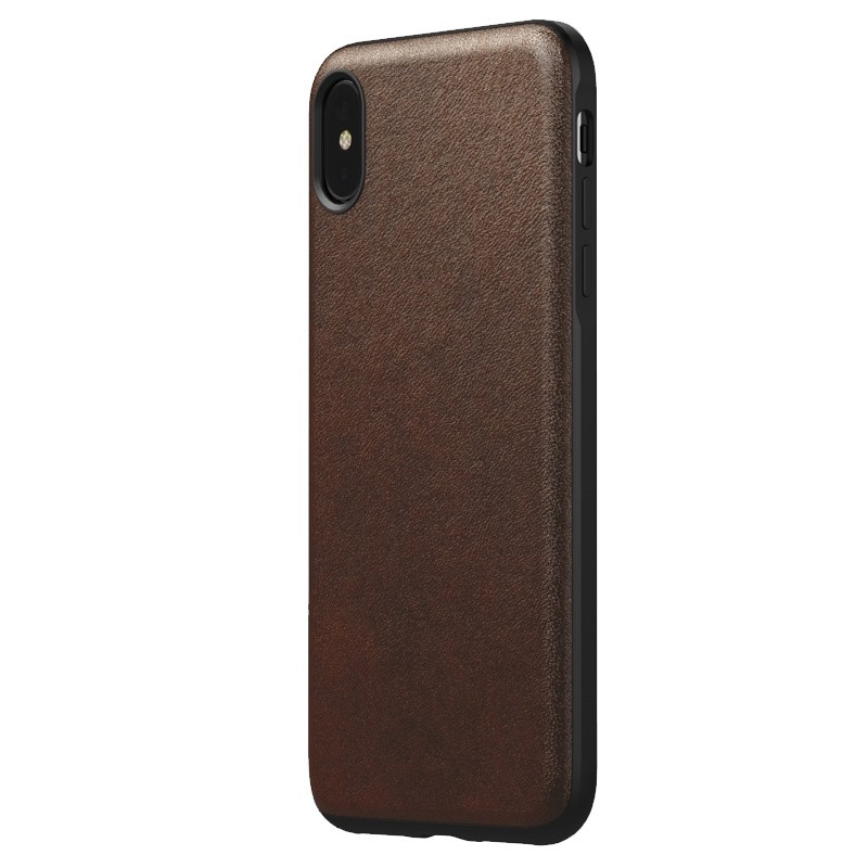 Nomad Leather Case iPhone XS Max Bruin 05