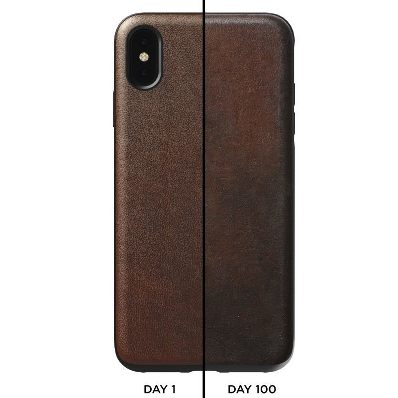 Nomad Leather Case iPhone XS Max Bruin 03
