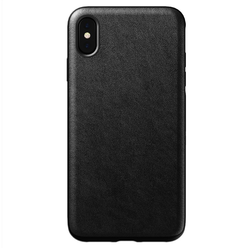 Nomad Leather Case iPhone XS Max Zwart 01