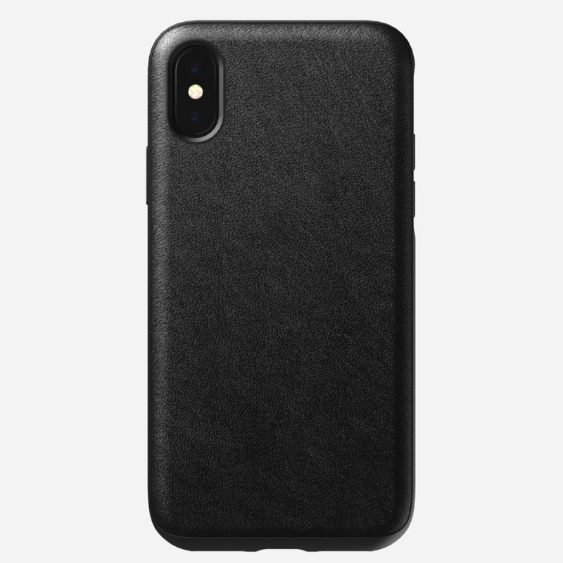 Nomad Rugged Leather Case iPhone X/XS Zwart - 1