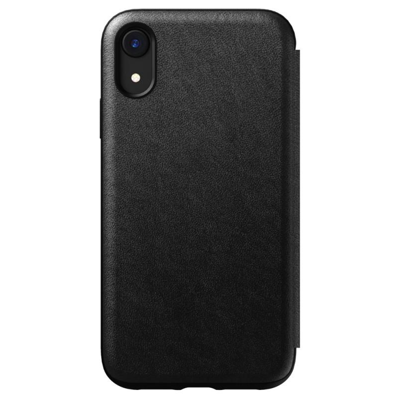 Nomad Leather Folio iPhone XR Zwart 02