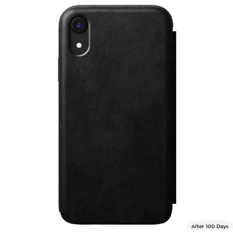 Nomad Leather Folio iPhone XR Zwart 04