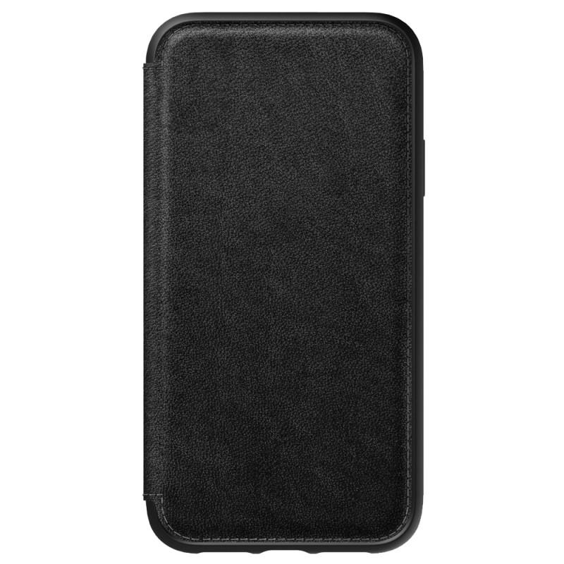 Nomad Leather Folio iPhone XR Zwart 05