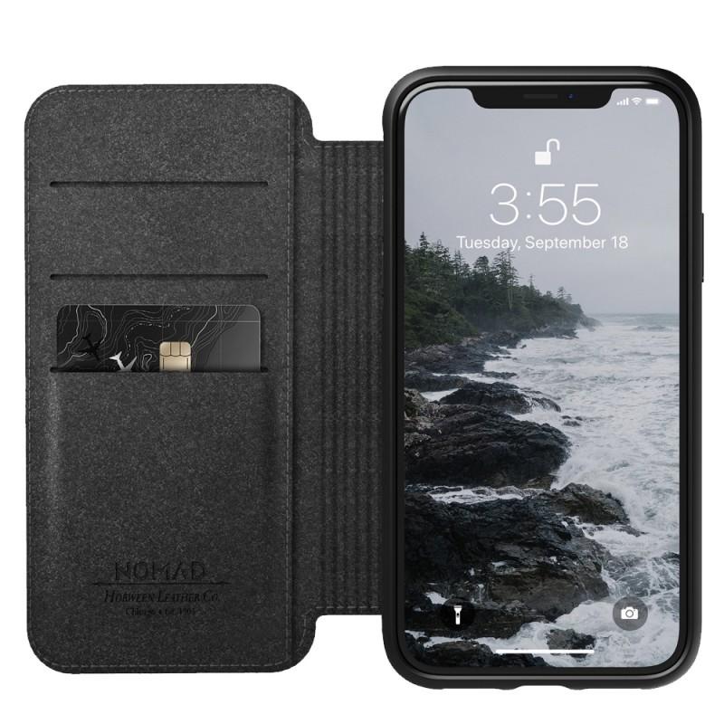 Nomad Leather Folio iPhone XR Zwart 06