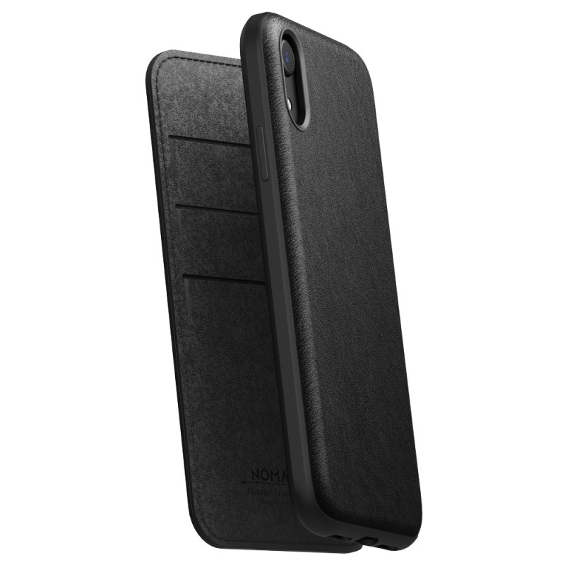 Nomad Leather Folio iPhone XR Zwart 01