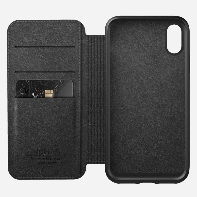 Nomad Rugged Leather Folio iPhone X/XS Bruin - 4