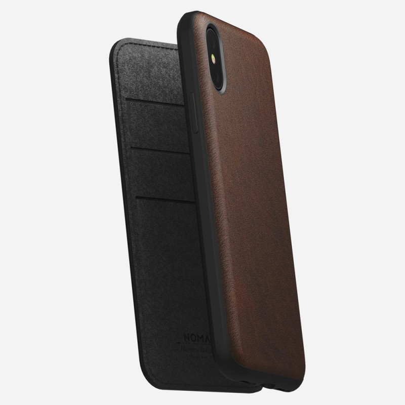 Nomad Rugged Leather Folio iPhone X/XS Bruin - 5