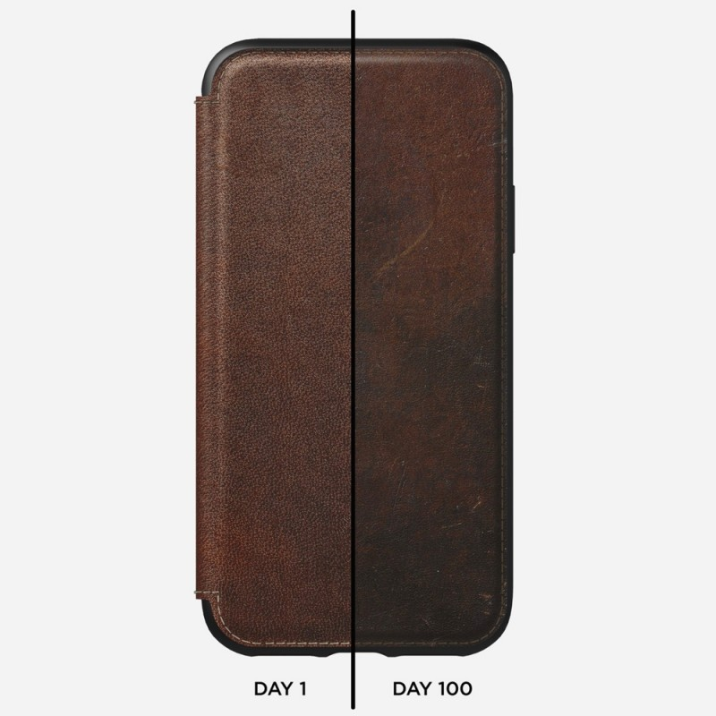 Nomad Rugged Leather Folio iPhone X/XS Bruin - 6