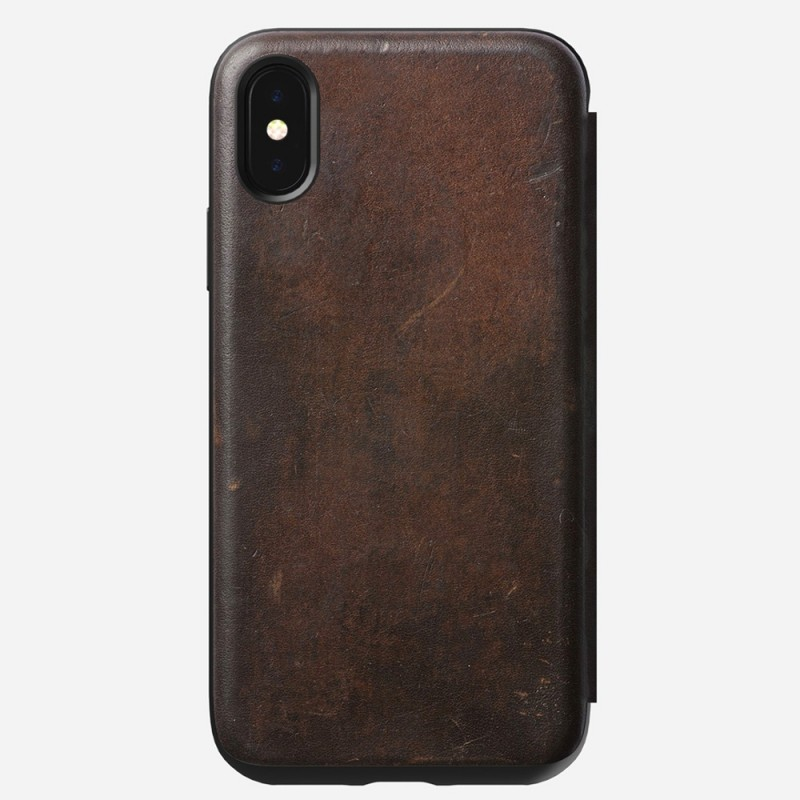 Nomad Rugged Leather Folio iPhone X/XS Bruin - 7