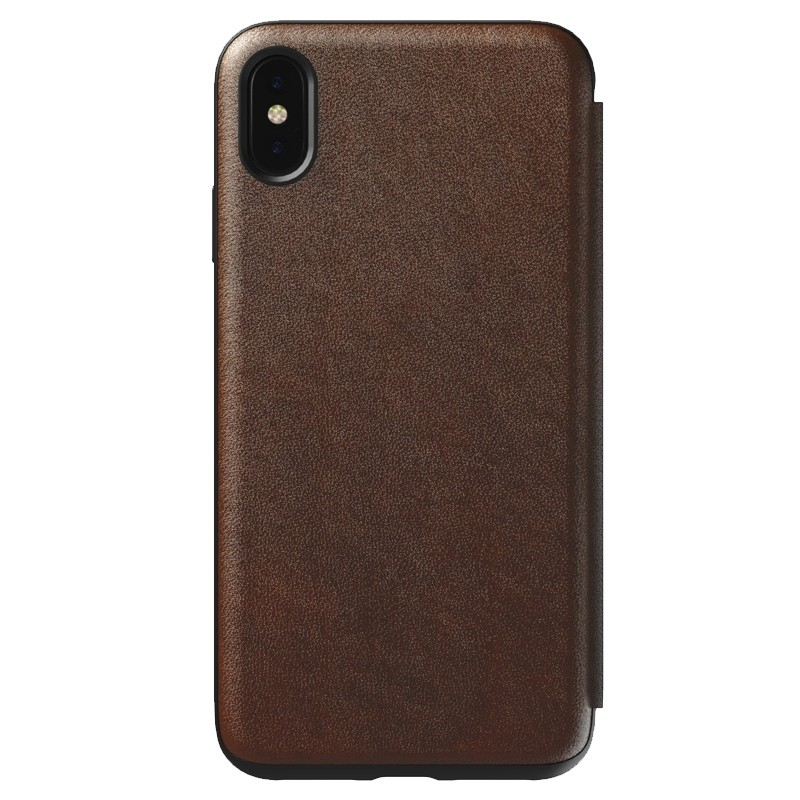 Nomad Leather Folio iPhone XS Max Bruin 05