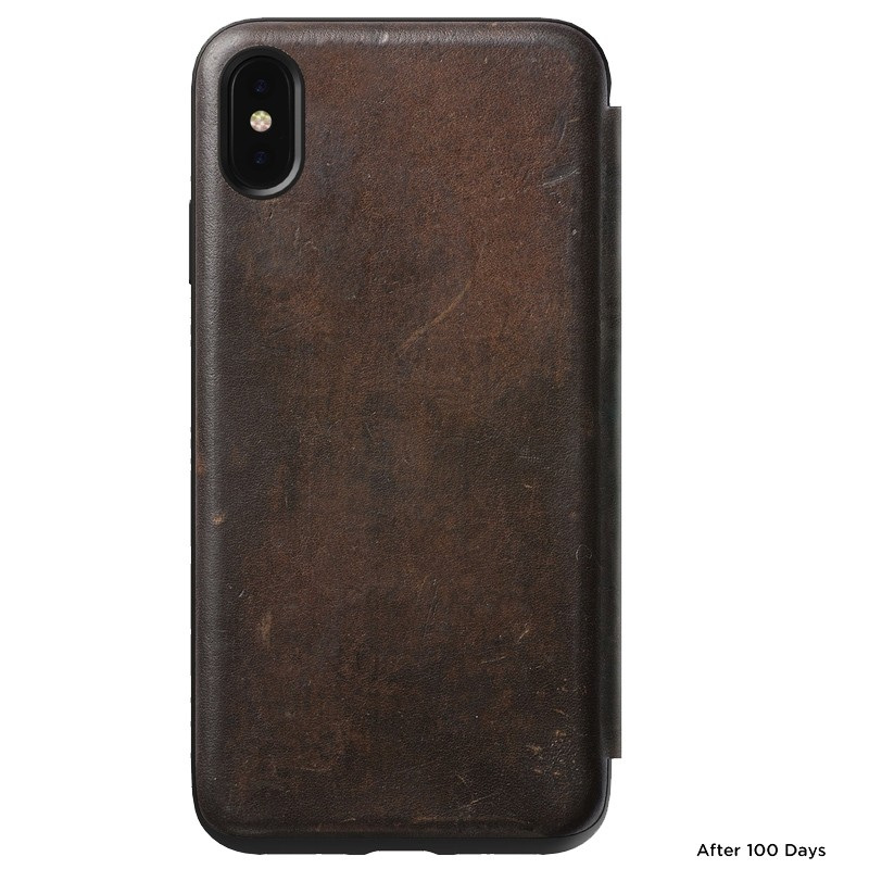 Nomad Leather Folio iPhone XS Max Bruin 02