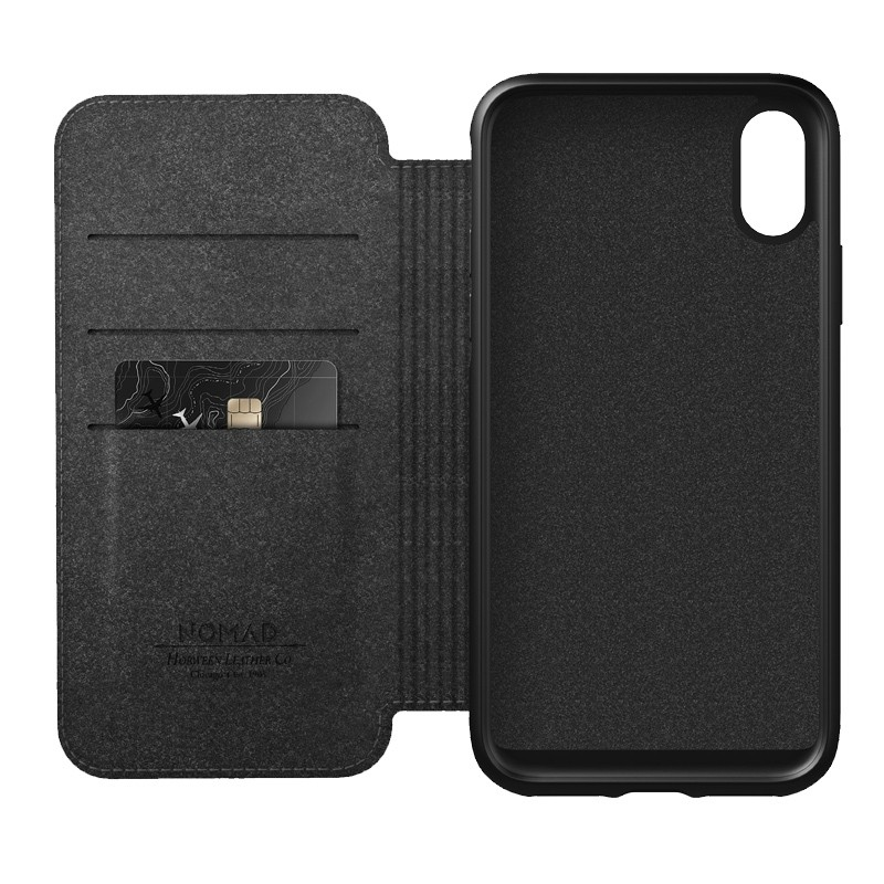 Nomad Leather Folio iPhone XS Max Bruin 06