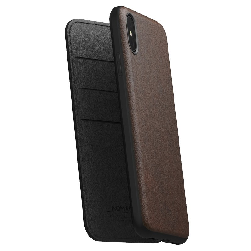 Nomad Leather Folio iPhone XS Max Bruin 07