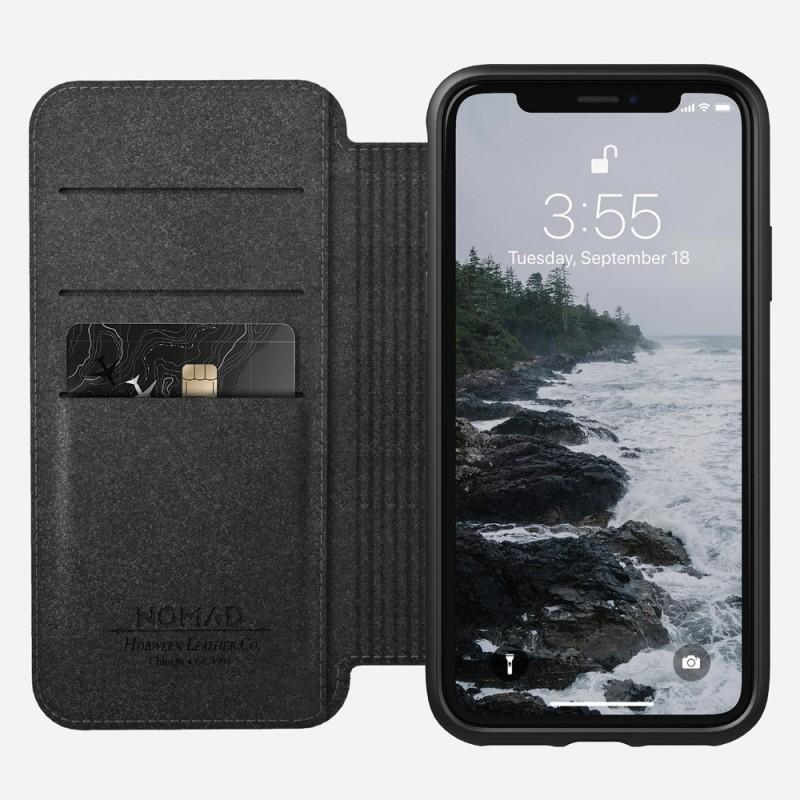 Nomad Rugged Leather Folio iPhone X/XS Zwart - 1