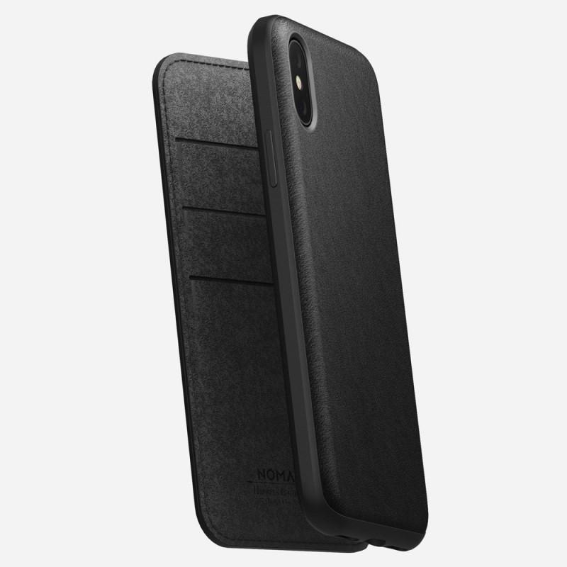 Nomad Rugged Leather Folio iPhone X/XS Zwart - 4