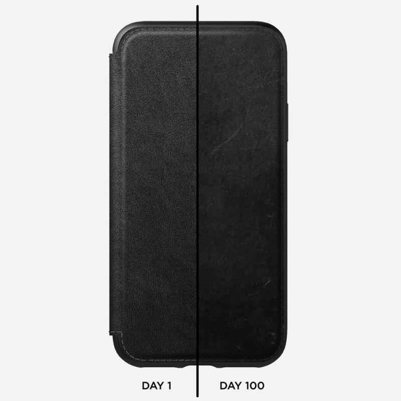 Nomad Rugged Leather Folio iPhone X/XS Zwart - 5