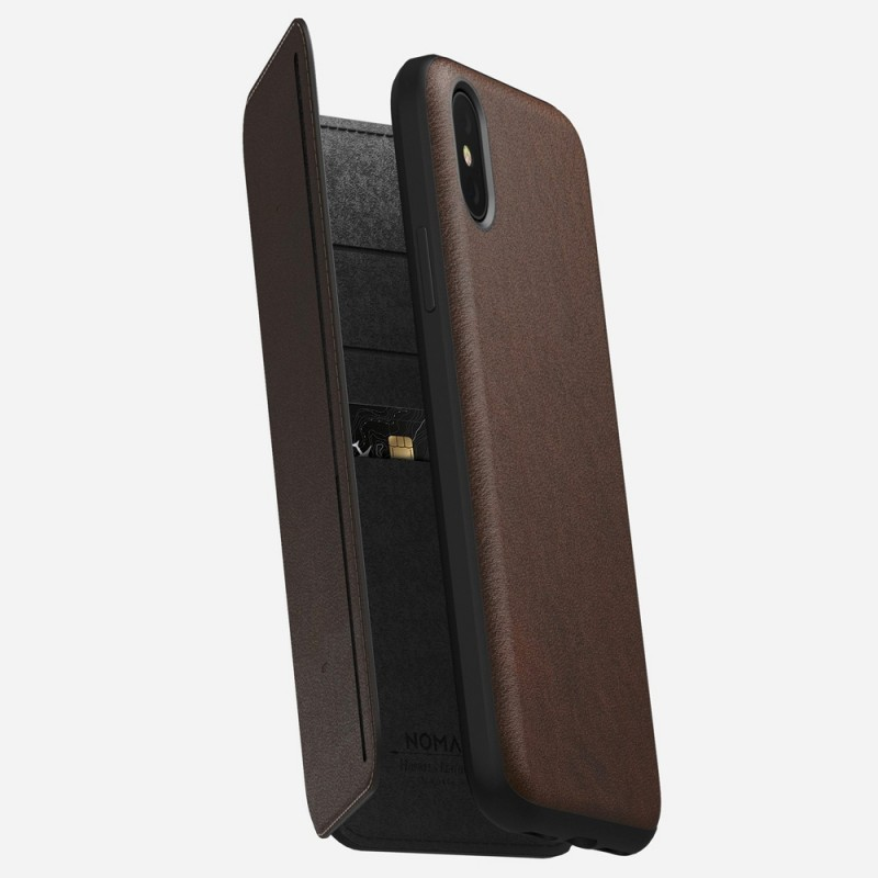 Nomad Rugged Tri-Folio Hoes iPhone X/XS Bruin - 1