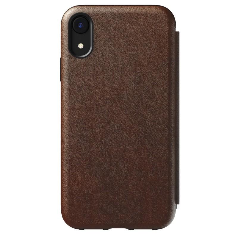 Nomad Tri-Folio Lederen Wallet iPhone XR Bruin 07