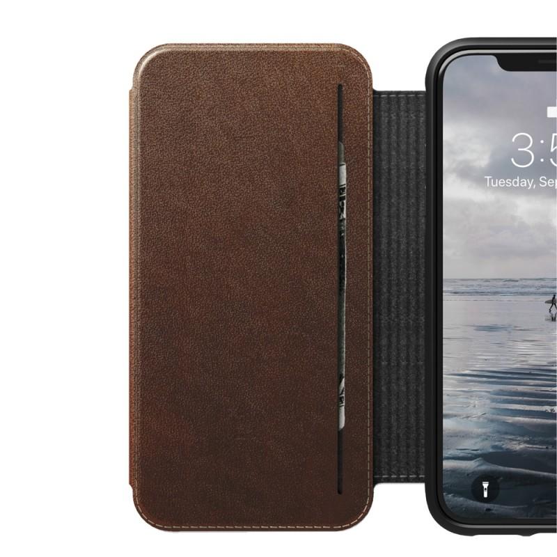 Nomad Tri-Folio Lederen Wallet iPhone XR Bruin 04