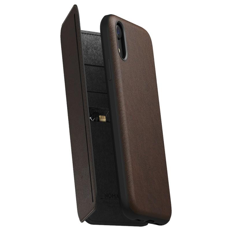 Nomad Tri-Folio Lederen Wallet iPhone XR Bruin 01