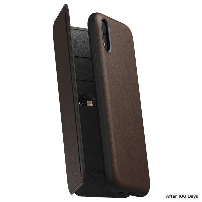 Nomad Tri-Folio Lederen Wallet iPhone XR Bruin 06