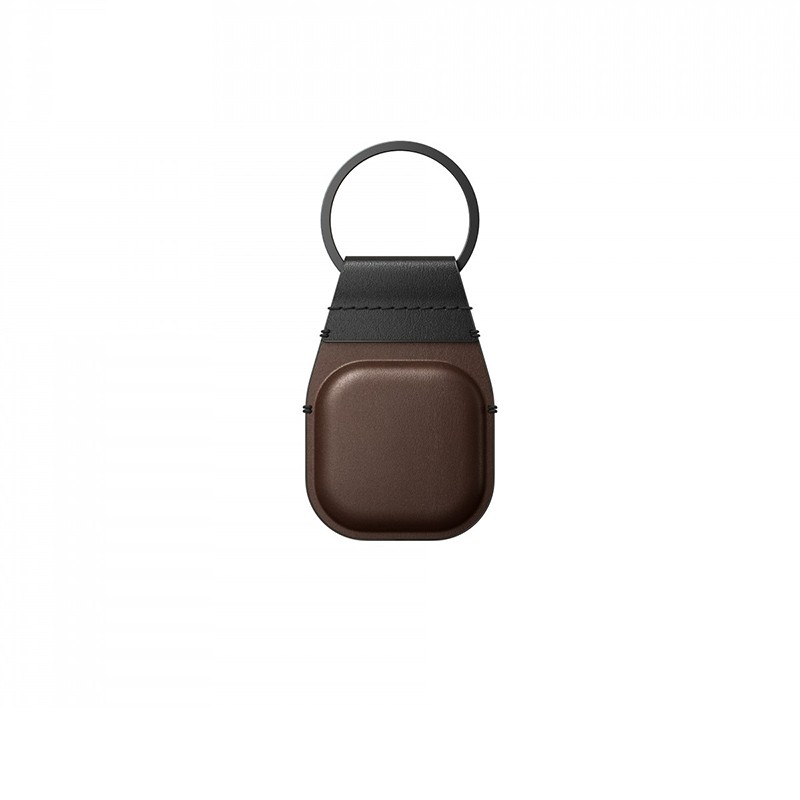 Nomad Leather Keychain AirTag Hoesje Bruin 01