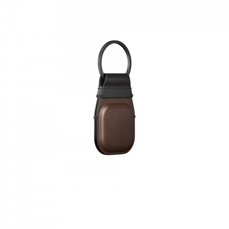 Nomad Leather Keychain AirTag Hoesje Bruin 02