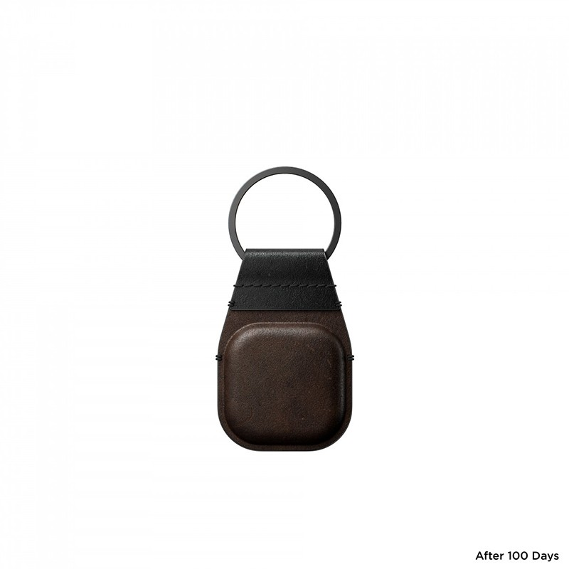 Nomad Leather Keychain AirTag Hoesje Bruin 04