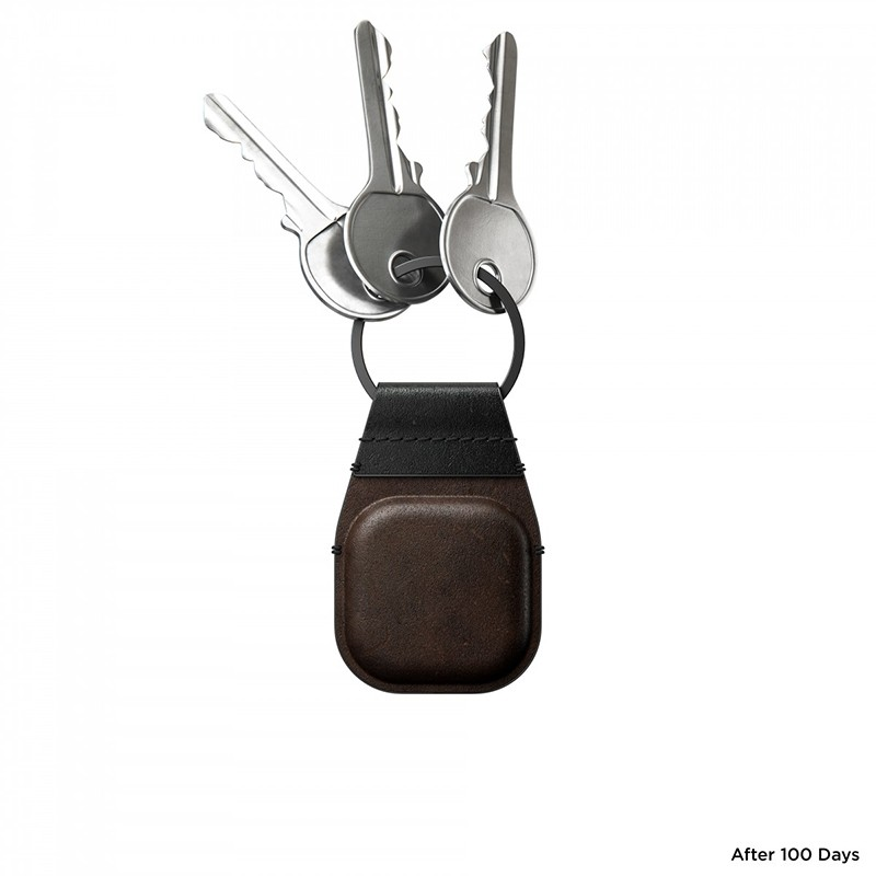 Nomad Leather Keychain AirTag Hoesje Bruin 05