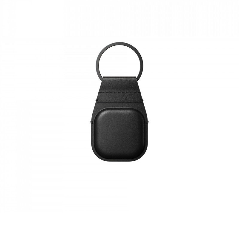 Nomad Leather Keychain AirTag Hoesje Zwart 01