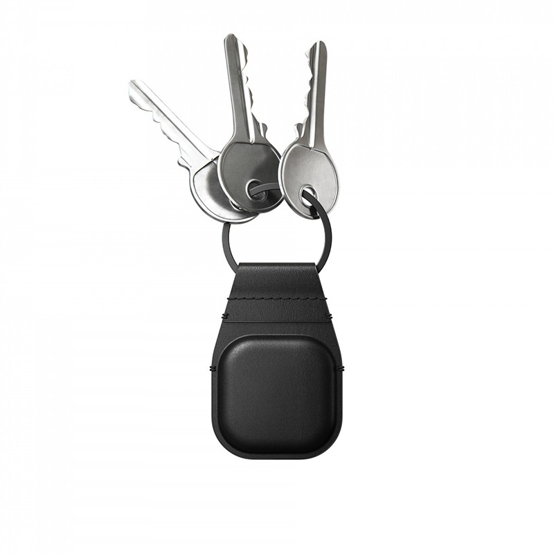 Nomad Leather Keychain AirTag Hoesje Zwart 03