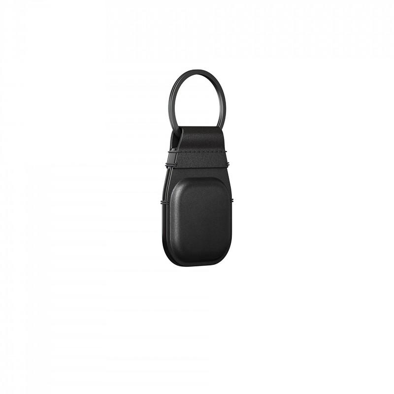 Nomad Leather Keychain AirTag Hoesje Zwart 02