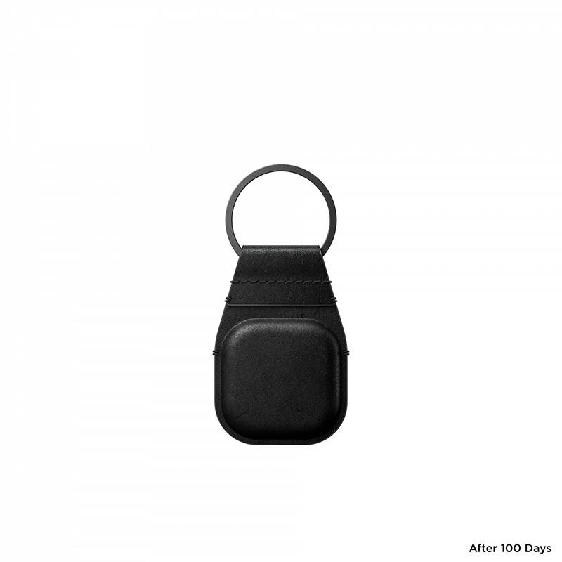Nomad Leather Keychain AirTag Hoesje Zwart 04