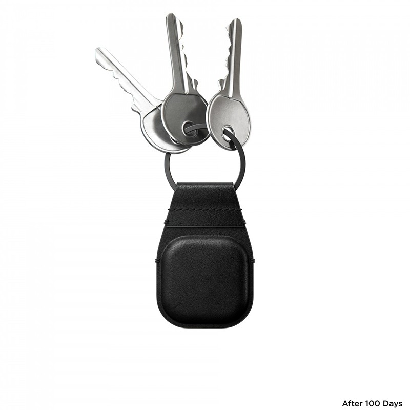 Nomad Leather Keychain AirTag Hoesje Zwart 05