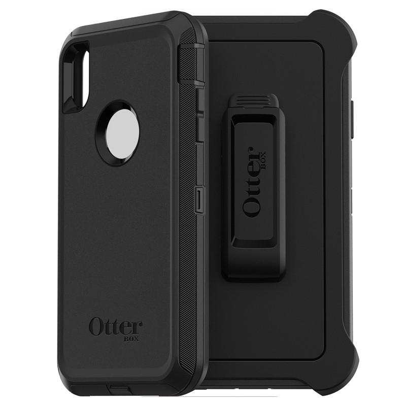 Otterbox Defender iPhone XR Hoes Zwart 01