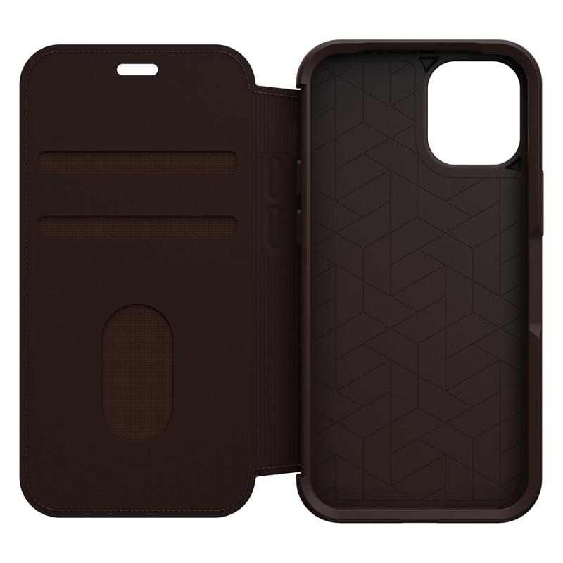 Otterbox Strada Folio iPhone 12 Mini Bruin - 6