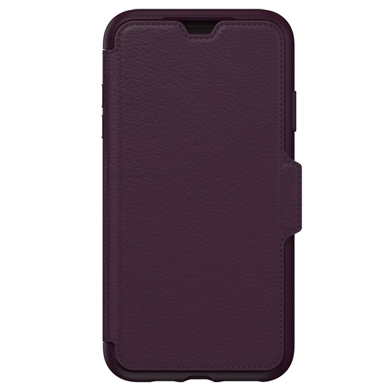 Otterbox Strada Lederen iPhone XR Folio Hoes Royale Purple Paars 04