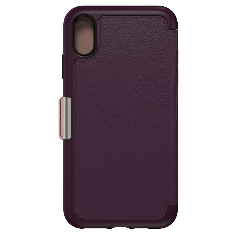 Otterbox Strada Lederen iPhone XR Folio Hoes Royale Purple Paars 02