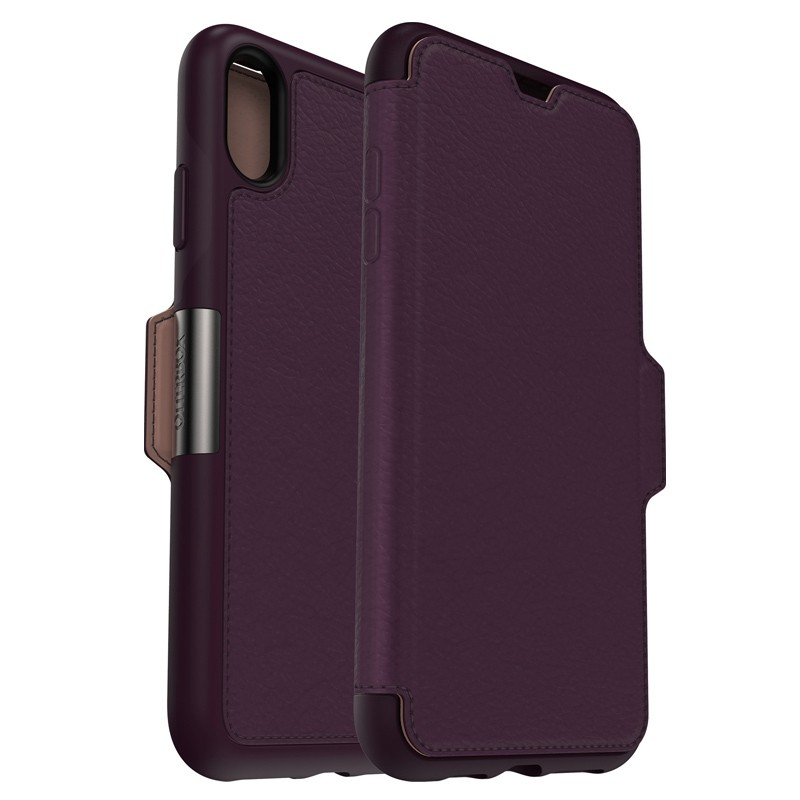 Otterbox Strada Lederen iPhone XR Folio Hoes Royale Purple Paars 01