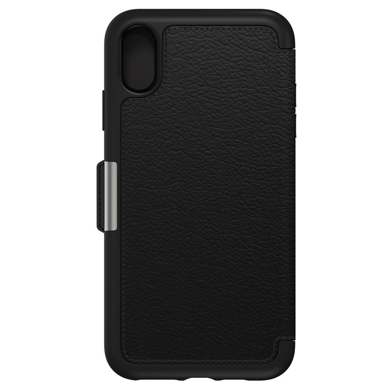 Otterbox Strada Folio iPhone XS Max Hoesje Shadow Black Zwart 02