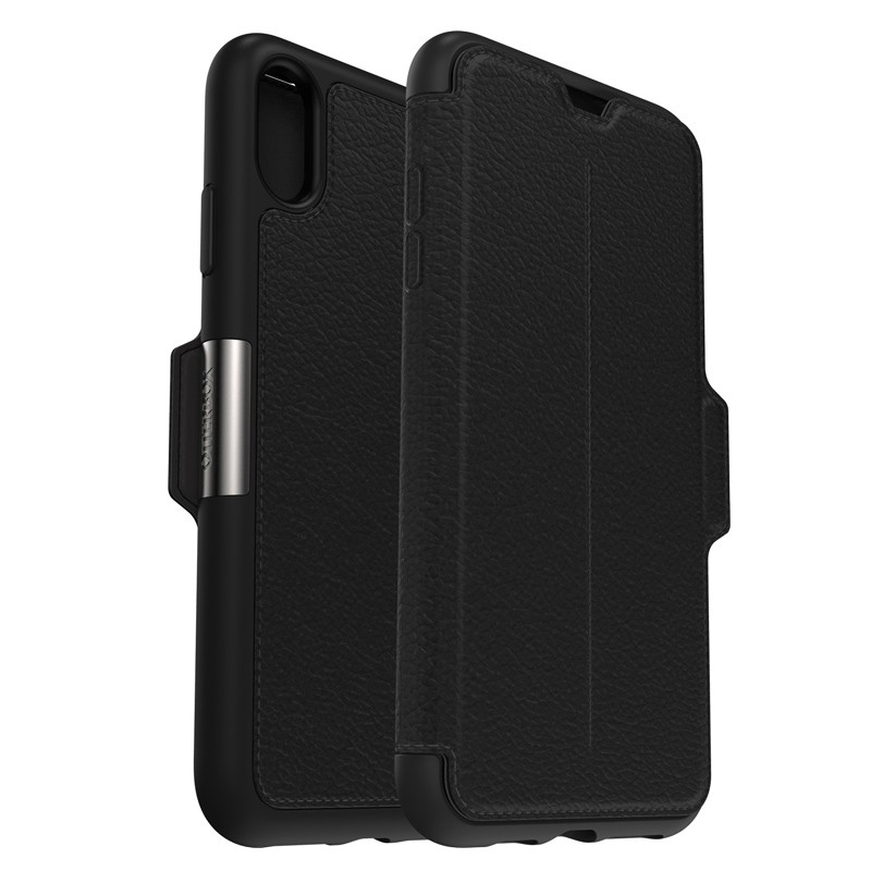 Otterbox Strada Folio iPhone XS Max Hoesje Shadow Black Zwart 05