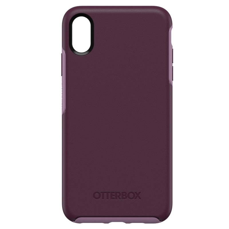 Otterbox Symmetry iPhone XS Max Hoesje Paars 01