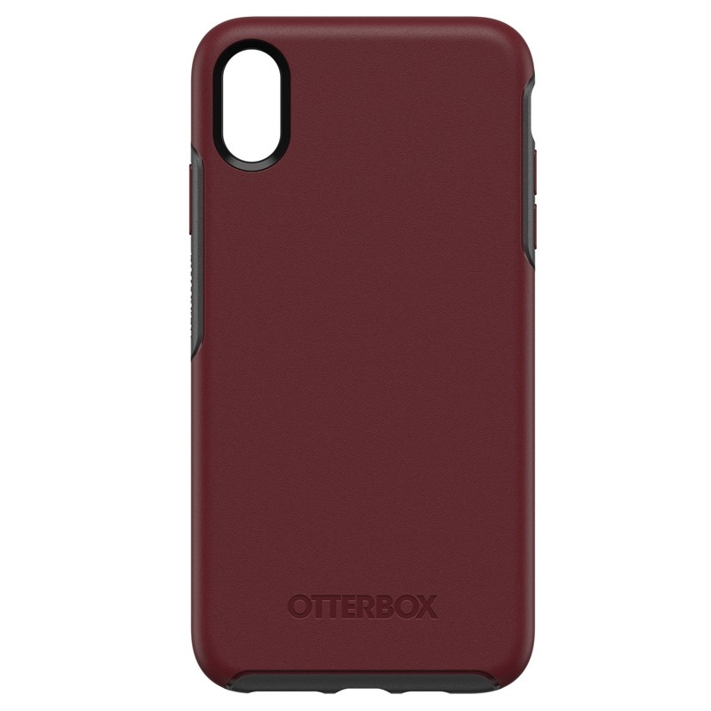 Otterbox Symmetry iPhone XS Max Hoesje Port Rood 01