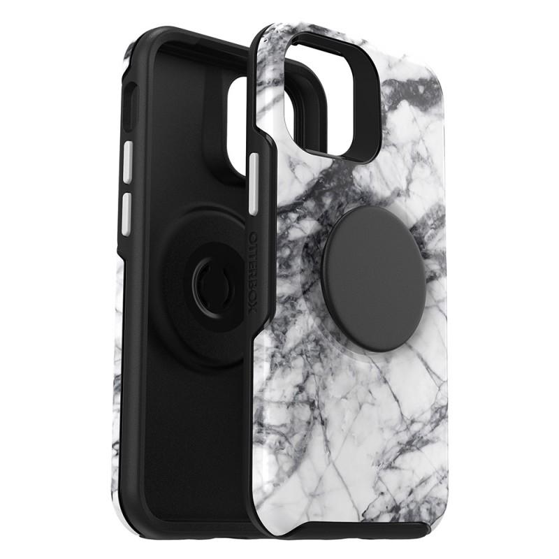 Otterbox Symmetry Otter+Pop iPhone 12 / 12 Pro 6.1 Wit Marmer - 2