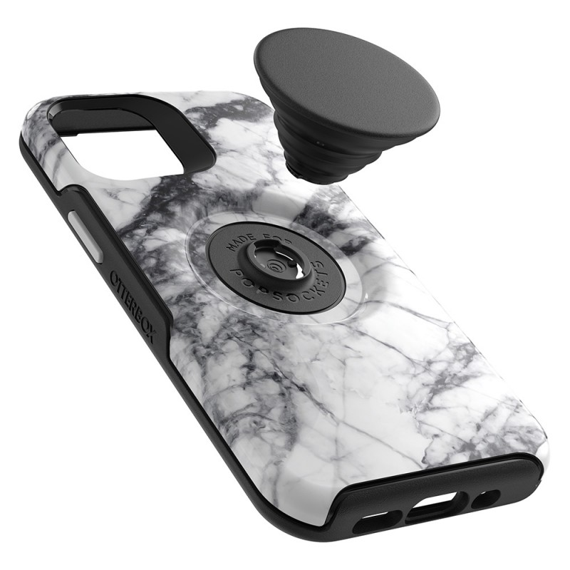 Otterbox Symmetry Otter+Pop iPhone 12 Pro Max Wit Marmer - 3