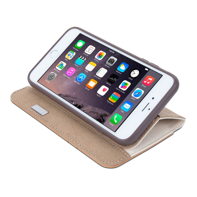 Moshi Overture Wallet Case iPhone 6 Sahara Beige - 5