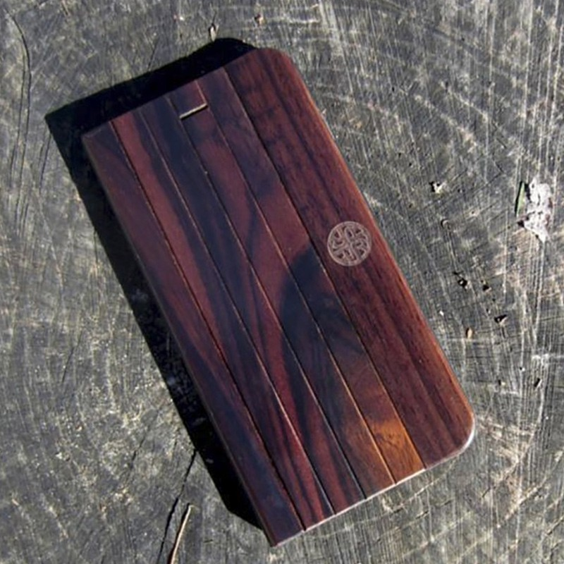 Reveal - Nara Folio hoes voor iPhone 7 Dark Wood 05