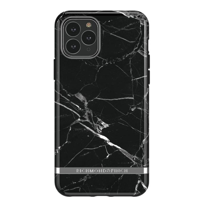 Richmond & Finch iPhone 12 / 12 Pro 6.1 inch Hoesje Black Marble - 1