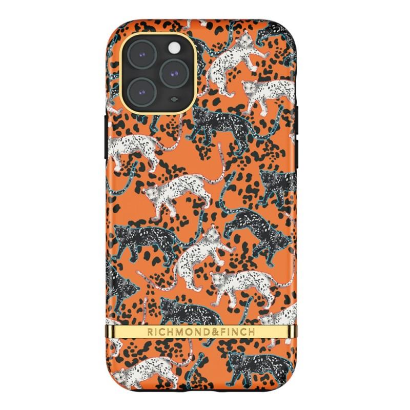Richmond & Finch iPhone 12 / 12 Pro 6.1 inch Hoesje Orange Leopard - 1